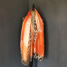 Sjaal | Panterprint oranje
