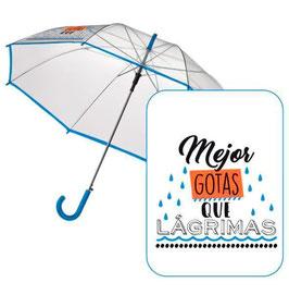 Paraguas Transparente Frases