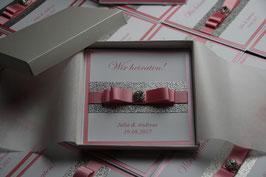 Einladungskarte Hochzeit Pink Julia