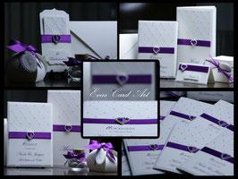Einladungskarte Hochzeit Herz - Elina