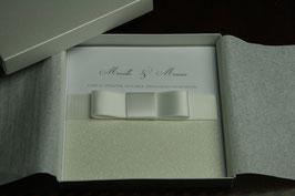 Einladungskarte Hochzeit Glitter Rosé- Mariella