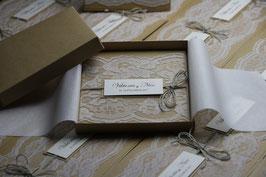 Einladungskarte Hochzeit Vintage Viktoria