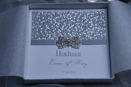 Einladungskarte Hochzeit - Carmen Schleifenbrosche