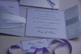Einladungskarte Hochzeit Pocketfold - Franzi