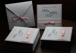 Einladungskarte Hochzeit Sina