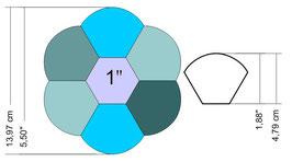 Hexagonbloem nr 2