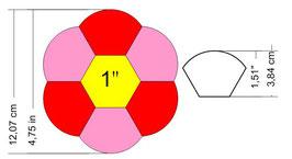 Hexagonbloem nr 1