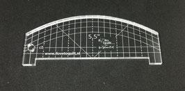 5,5'' liniaal met boog en rechte lijn