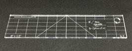 Rechte liniaal 6''x1,5''