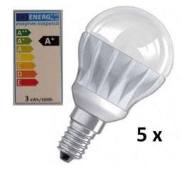 LED-Lampe 4W - Set beinhaltet 5 Stück - Energieklasse A+