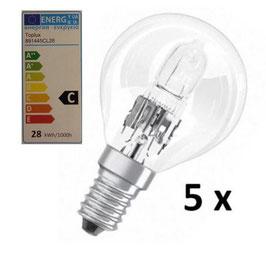 Halogenlampe 28W - Set beinhaltet 5 Stück - Energieklasse C