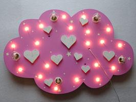 """Deckenleuchte """"WHITE HEARTS"""" rosa - mit GLITTER für Girls!"""