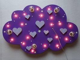 """Deckenleuchte """"HEARTS"""" lila - mit GLITTER für Girls!"""
