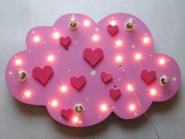 """Deckenleuchte """"HEARTS"""" rosa - mit GLITTER für Girls!"""