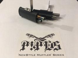 NewStyle Muffler - Twin exit - Big oval - 2x 6mm