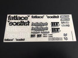HPI Fatlace Hellaflush Decal Sheet