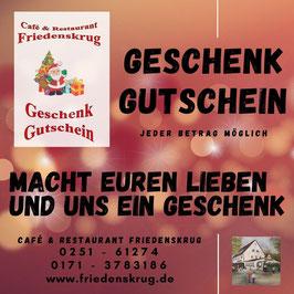 Cafe & Restaurant Friedenskrug Gutscheine