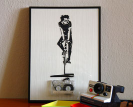"TAPEART  Kassettenbild  : ""Bike"""