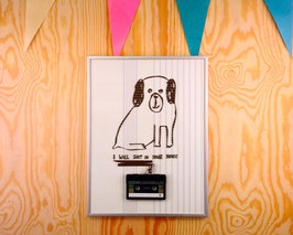 "TAPEART  Kassettenbild  : ""Bad Dog"""