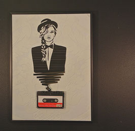 "TAPEART  Kassettenbild  : ""Girl with the Bowler Hat"""