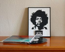 """TAPEART  Kassettenbild  : """"Hendrix"""""""