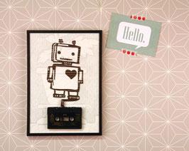 """TAPEART  Kassettenbild  : """"Roboterliebe"""""""