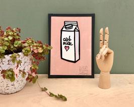 """TAPEART  Kassettenbild  : """"oat milk""""-Serie thingstothink"""
