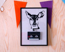 "TAPEART  Kassettenbild  : ""Deer"""