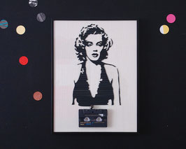"TAPEART  Kassettenbild  : ""Marylin"""
