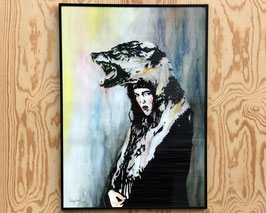 "Mixedmedia ""Running with the wolves"""