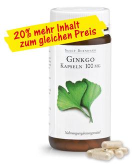 Ginkgo-Kapseln 100 mg 180 Kapseln