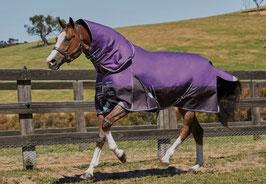 Weatherbeeta Winterdecke Comfitec Plus Dynamic 360g mit abnehmbarem Halsteil - violett/schwarz