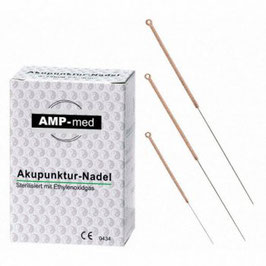 Akupunkturnadeln mit Kupfergriff
