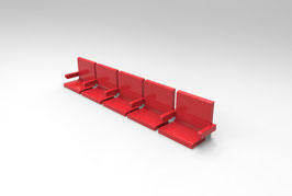 The Executive Seats (5 in a row or 4 in a row) for your Zeugo or your classic stand. Custom size orders available now!