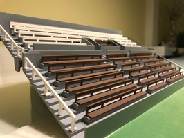 27 Benches  for a two tier new style Subbuteo grandstand (REF 61216 and 61217)