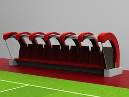 The curved ten seater dugout