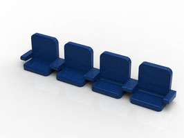The Directors Seats (4 in a row or 5 in a row) for your Zeugo or your classic stand. Custom size orders available now!