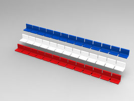 284 Standard Seats for a two tier vintage Subbuteo grandstand (REF C141 / C142)