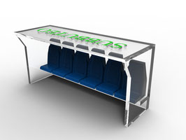 Pair of 5 seats for the classic Subbuteo dugouts