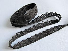 1 mètre de dentelle noire en coton - 13 mm -  D138