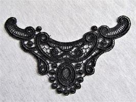 Col en dentelle noire -  125 x 77 mm  ( N° 2 )