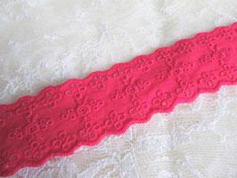 1 mètre de Broderie Anglaise rose fuchsia - 35 mm -  D104