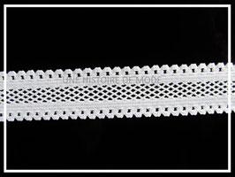 1M de ruban élastique résille blanc - 16 mm de largeur - ruban dentelle stretch