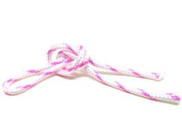 1 mètre de corde en nylon rose et blanc 3mm