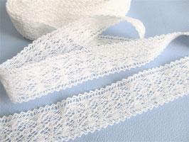 1 mètre de Dentelle blanche en coton 25 mm - D83