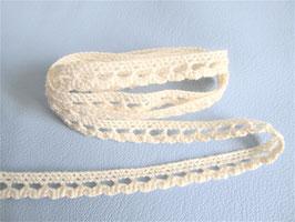 1 mètre de dentelle en coton beige - 9 mm - D114