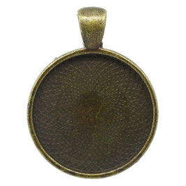 Support cabochon en métal bronze - 41 x 32 mm  RZZ154
