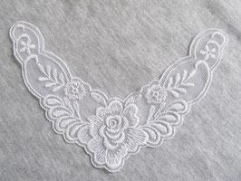 Col blanc en dentelle - 140 x 87 mm  ( N°3 )