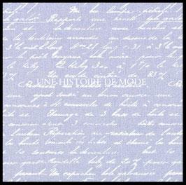 Tissu vintage en coton violine avec écritures blanches 50 x 45 cm - T26