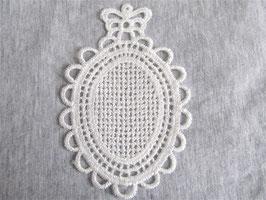 Applique camée en guipure à broder -  100 x 70 mm - ( XX001 )